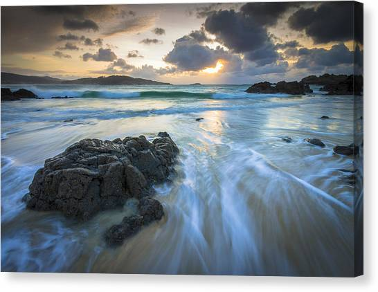 La Fragata Beach Galicia Spain Canvas Print