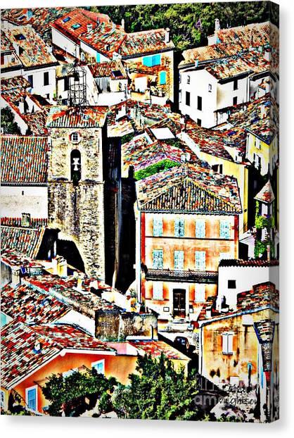 La Garde Freinet Canvas Print