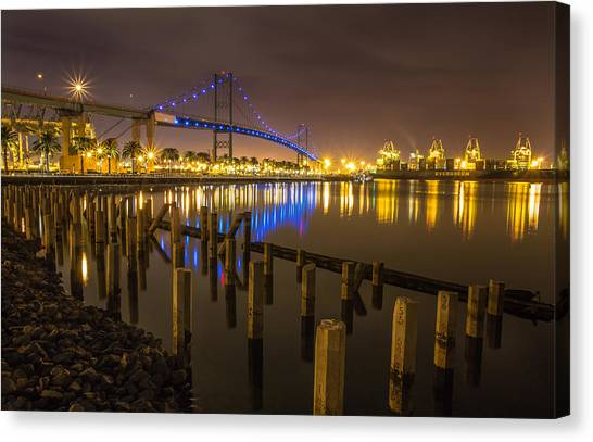 L.a Harbor Canvas Print