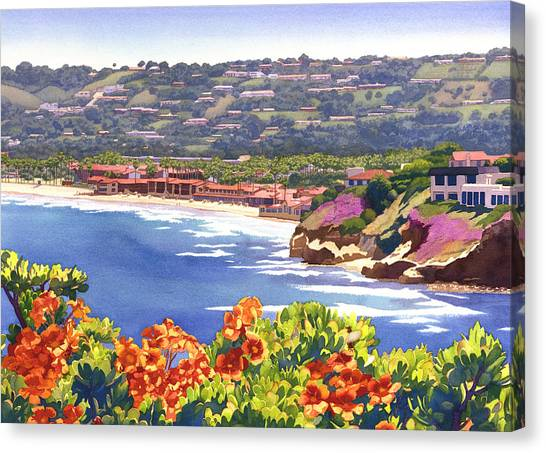 Clubs Canvas Print - La Jolla Beach And Tennis Club by Mary Helmreich