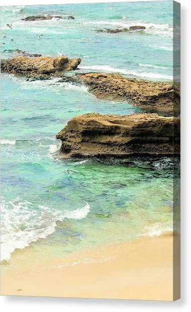 La Jolla Beach Rocks Canvas Print