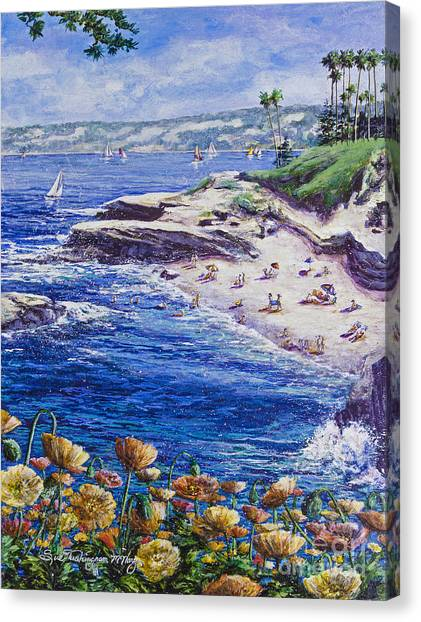 La Jolla Beach Canvas Print