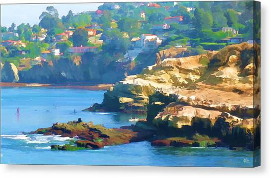 La Jolla California Cove And Caves Canvas Print