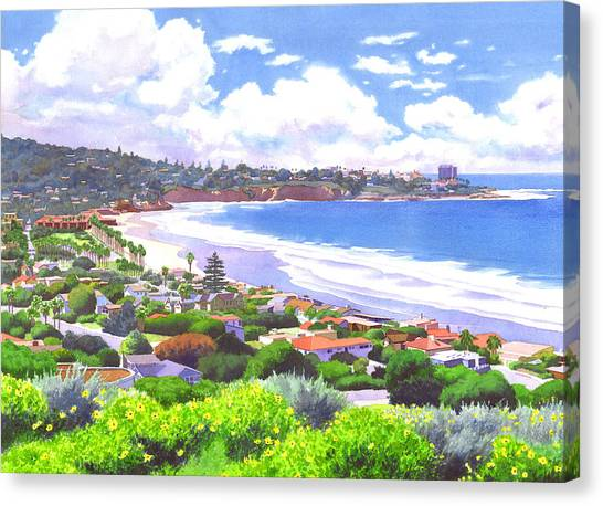 Landscapes Canvas Print - La Jolla California by Mary Helmreich