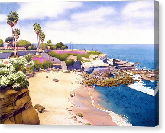 California Canvas Print - La Jolla Cove by Mary Helmreich