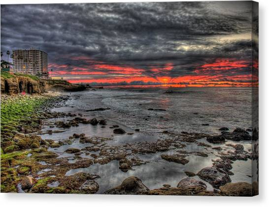 La Jolla Cove Sunset Canvas Print