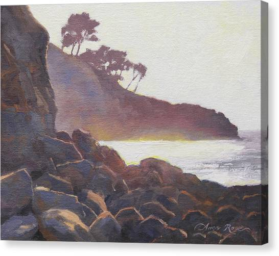 Ocean Cliffs Canvas Print - La Jolla Light by Anna Rose Bain