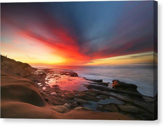 San Diego Canvas Print - La Jolla Reef Sunset 13 by Larry Marshall