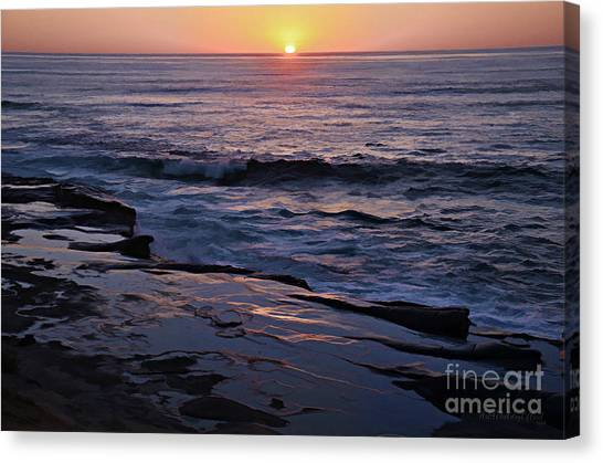 La Jolla Sunset Reflection Canvas Print