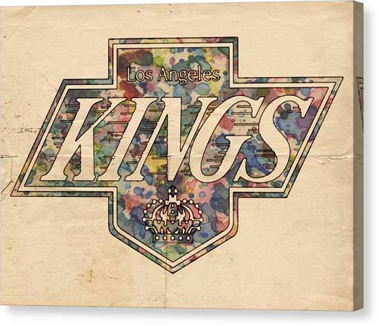 Los Angeles Kings Canvas Print - La Kings Vintage Art by Florian Rodarte