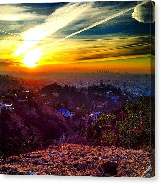 Wine Canvas Print - #la #los #angeles #good #morning by Thewinery Wine