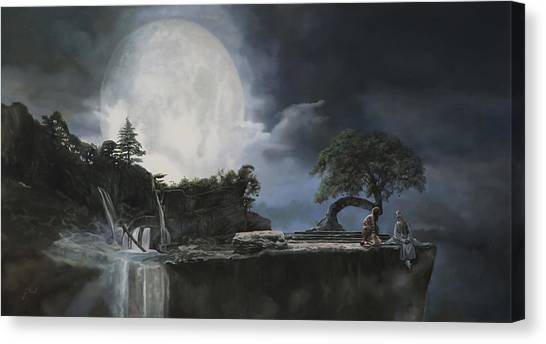 Nirvana Canvas Print - La Luna Bianca by Guido Borelli