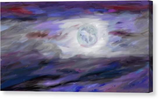Luminous Body Canvas Print - La Luna by Jeanne Fischer