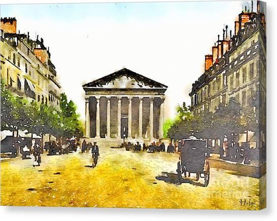 La Madeleine 1890 Canvas Print
