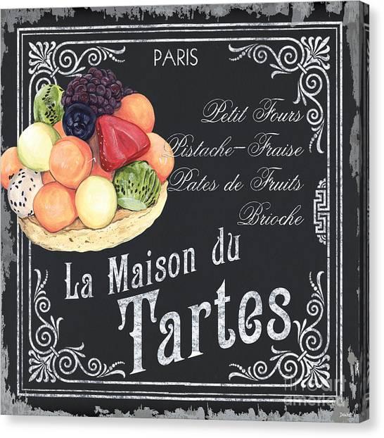 Vegetarian Canvas Print - La Maison Du Tartes by Debbie DeWitt