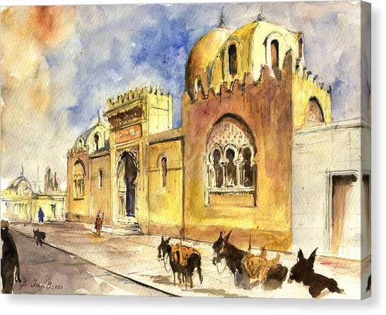 Mosques Canvas Print - La Medersa School Casbah by Juan  Bosco
