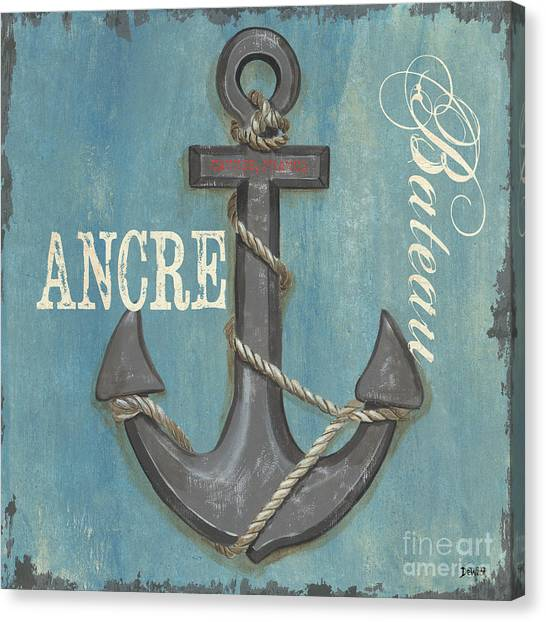 Ships Canvas Print - La Mer Ancre by Debbie DeWitt