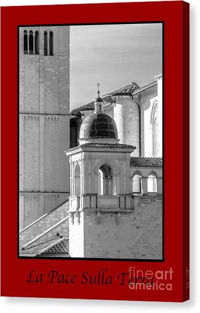 La Pace Sulla Terre With Basilica Details Canvas Print