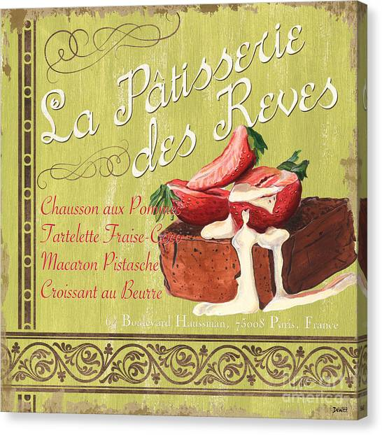 Strawberry Canvas Print - La Patisserie Des Reves 2 by Debbie DeWitt