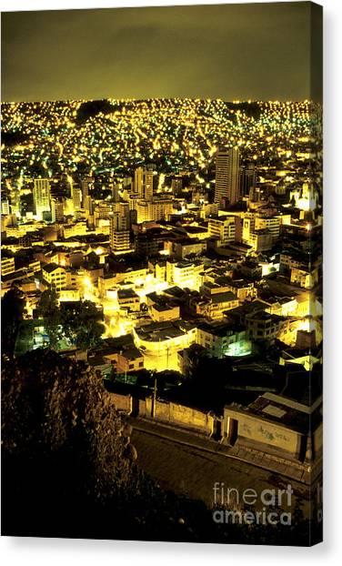 Architectur Canvas Print - La Paz Cityscape Bolivia by Ryan Fox