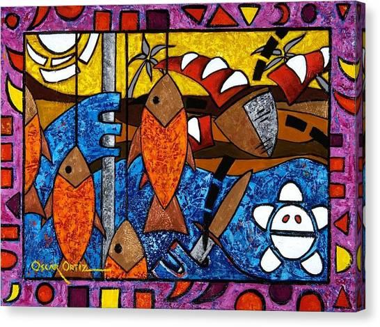 La Pesca Virgen De Un Hombre Honrado Canvas Print