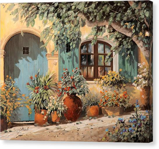 Door Canvas Print - La Porta Azzurra by Guido Borelli