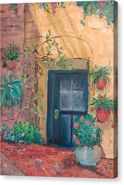 La Puerta Azul Canvas Print