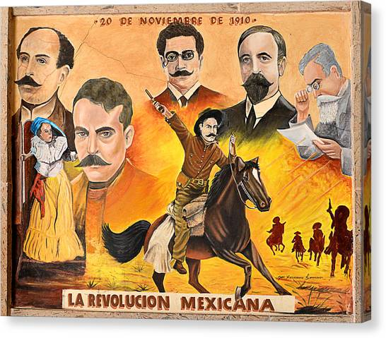 La Revolution Mexicana Canvas Print