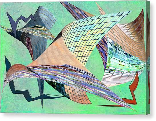 Frank Stella Canvas Print - La Ripped by Linda Dunn