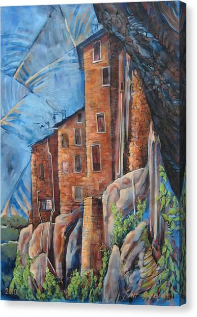 La Rocca Citta Lg Italy Canvas Print