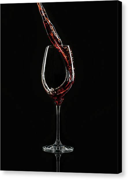 a0ccc2f5a Wine Glass Canvas Print - La Sangria by Jackson Carvalho