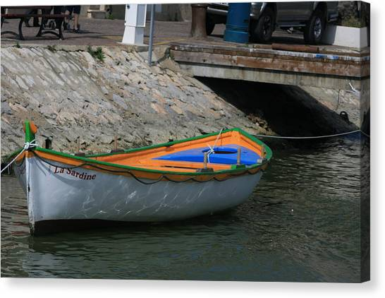 Boat   La Sardine  Canvas Print