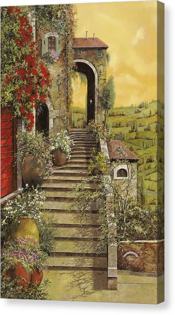Red Door Canvas Print - La Scala Grande by Guido Borelli