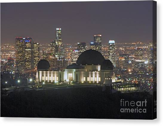 L.a. Skyline Canvas Print