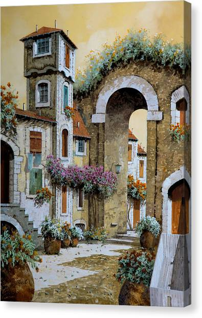 Carts Canvas Print - La Torre by Guido Borelli