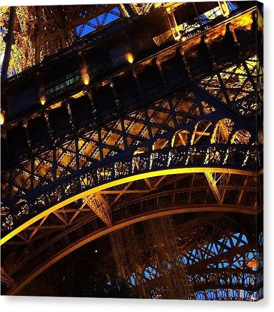 Landmark Canvas Print - La Tour Eiffel by Heidi Hermes