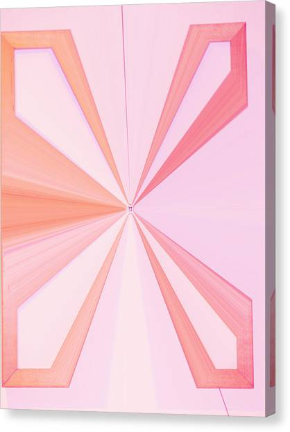 American Jewish Artists Canvas Print - La Vie En Rose 11   3.23.14 by Rozita Fogelman