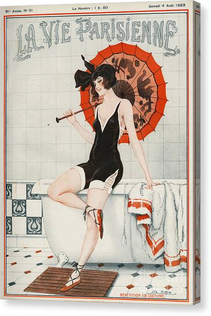 Woman Canvas Print - La Vie Parisienne  1923 1920s France by The Advertising Archives