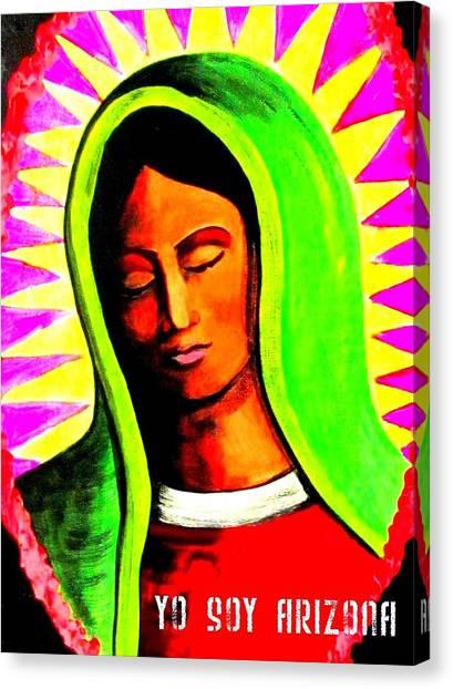 Canvas Print featuring the painting Tonantzin by Michelle Dallocchio