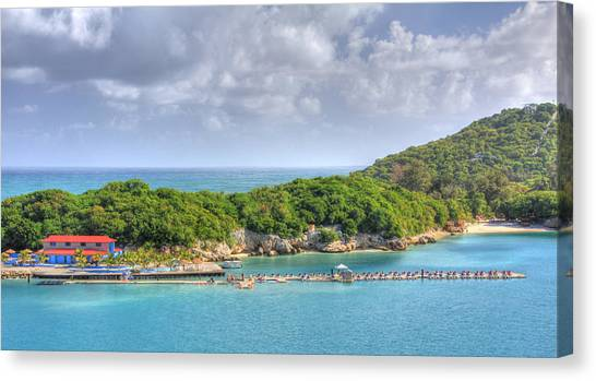 Jet Skis Canvas Print - Labadee by Shelley Neff