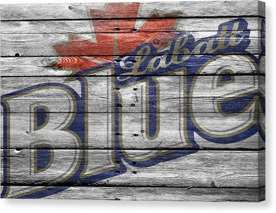 Beer Can Canvas Print - Labatt Blue by Joe Hamilton