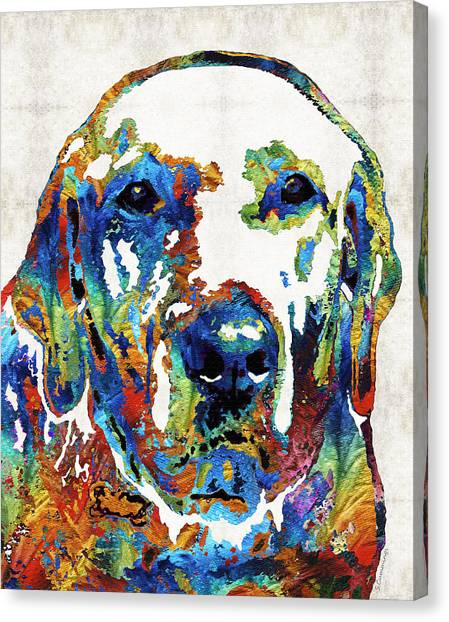 Labrador Retriever Canvas Print - Labrador Retriever Art - Play With Me - By Sharon Cummings by Sharon Cummings