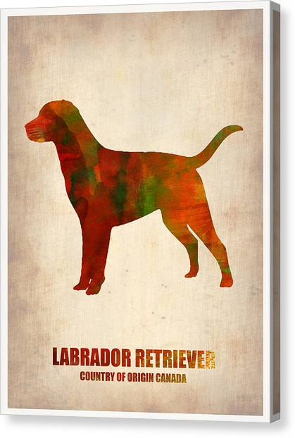 Labrador Retriever Canvas Print - Labrador Retriever Poster by Naxart Studio