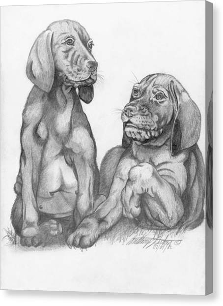 Labrador Retriver Puppies Canvas Print