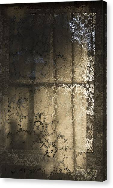 Lace Curtain 1 Canvas Print