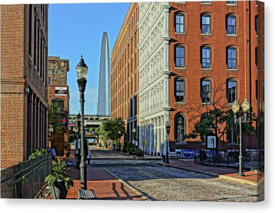 Laclede's Landing Just North Of The Arch Canvas Print