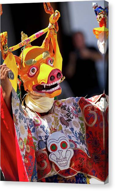 Karakoram Canvas Print - Ladakh, India The Ceremonial Masked by Jaina Mishra
