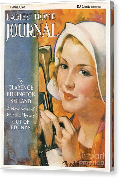 Ladies Home Journal 1930s Usa Golf Canvas Print by The Advertising Archives
