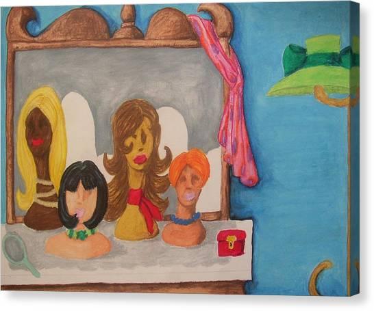 Ladies In Waiting Canvas Print by William Bryant
