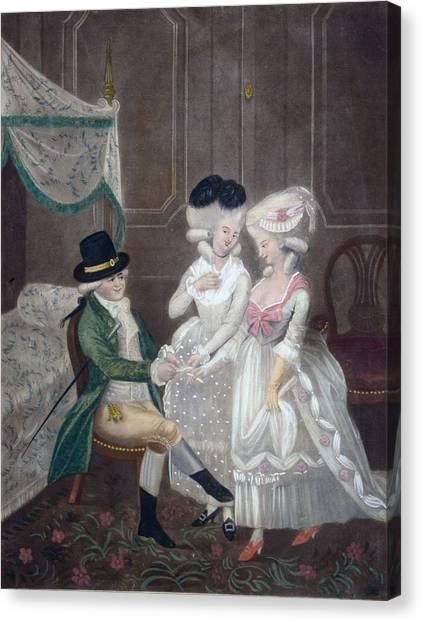 Selection Canvas Print - Ladies Of Pleasure, 1781 by English School